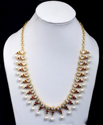 Women Flash Gold 925 Sterling Silver Kundan Stone Designer Jewellery Set, 58.40 Gram