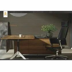 Rectangular(Table) Wooden(table) Wooden Modular Office Furniture, Size: 2.5 Feet ( Table Height)
