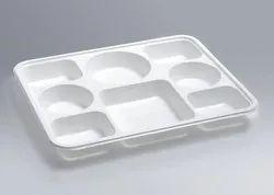 8 Compartment Rectangular Disposable Plastic Plate