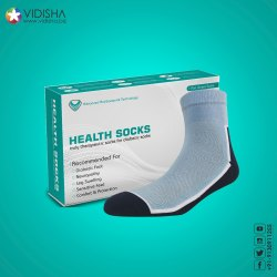 VIDISHA Cotton Diabetic Health Socks Truly Therapeutic Socks, For Clinical & Personal, Size: Free