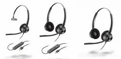 Black Over the Head Plantronics Encore Pro 300 Series (320/310) QD Wired Headset