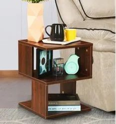 Square Ascent Homes End Table In Walnut Brown Finish, Size: 15.7*15.7*21