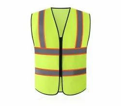 Metro Florescent Reflective Jacket 100% Polyester With Fancy Tape