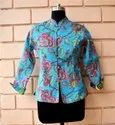 Printed Cotton Ladies Handblock Jacket
