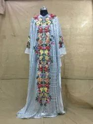 Embroidered 3d Work Caftan