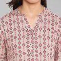 Janasya Women's Multicolor Rayon Kurta(JNE3315)