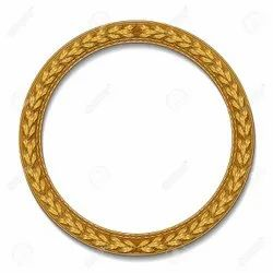 Gold Color Round Mirror Frame