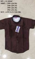 One Color Printed Fancy Half Sleeve Shirt For Boys