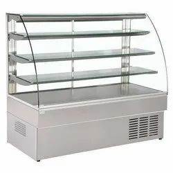 Stainless Steel & Glass SS Trolley Counter
