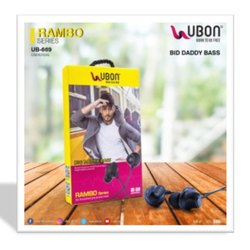 Multipurpose Black UBON EARPHONES UB-669, Model Name/Number: JGZ-SP'099