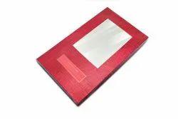 Red Rectangular Window Saree Rigid Box, Size/Dimension: 220 X 100 X 300 Mm, Box Capacity: 1 Kg
