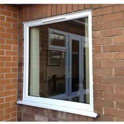 White UPVC Fixed Glass Window