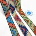 S3953 Jacquard Woven Ribbon/african Ethnic /geometry Pattern / Cross Stitch Trimming