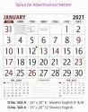 Office Wall Calendar 503A