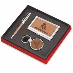 棕色金属组合礼品套装-企业礼品套装