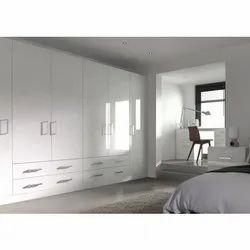 White Plywood High Gloss Wardrobe