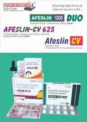 Amoxycillin 500 mg   Clavulanic Acid 125mg   Lactic Acid Baccillus 60 Million Spores.