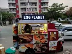 Battery Operated E Rickshaw Food Cart