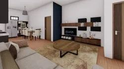 Living Room Interior 3D Rendering Services in Pan India
