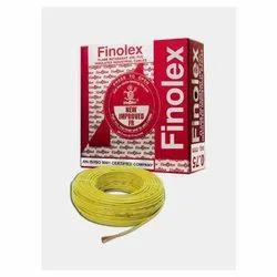 6 Sq Mm Finolex Flame Retardant PVC Insulated Yellow Cable