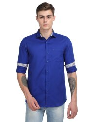100% Cotton Mens Solid Casual Shirt