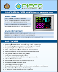 Isolation Room / Ward Monitor