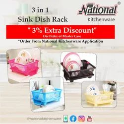 National 3 in 1 Sink Dish Rack