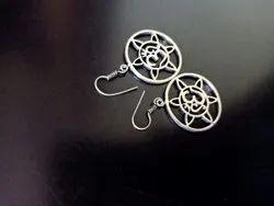 Casual Oxidized Silver Imitation Earring