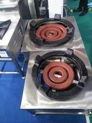 Stainless Steel Bulk Burner, For Commercial, 1
