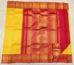 Yellow & Red Color Combination Silk Saree