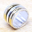 925 Sterling Silver And Brass Designer Jewelry Fine Ring SJWR-29