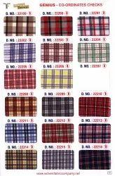 Cotton Blend Check School Uniform Shirting Fabric