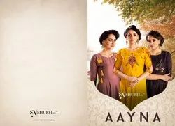 Handwork Coffee Aayna Shubh NX Latest One Piece Gown, Size: M L Xl Xxl