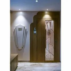 Wooden Safety Door, For Home,Hotel, Size: 4 X 6 Feet (wxh)
