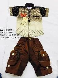 New Simple Fancy Shirt & Pant Set For Boys