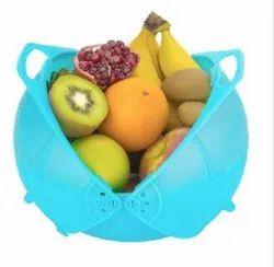 Plastic Blue Fruit Basket, For Home