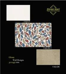 White Ceramic 12.18 Wall Tiles, For Flooring, Thickness: 10 - 12 Mm