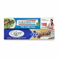 Claret Jodi Pack 72 Mtr Aluminium Foil Roll With Paramount Pvc Cling Film 100 Mtr