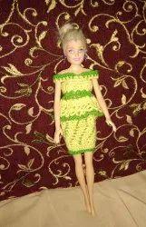 Crochet Work Cotton Barbie Doll Dress