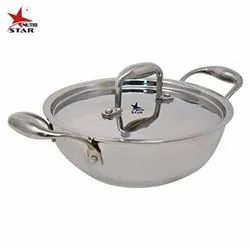 Nutristar Triply Stainless Steel Kadhai with Stainless Steel Lid