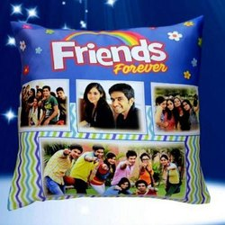 Customized Blue Printed Cushion