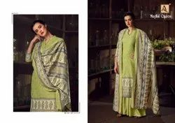 Mughal Queen By Alok Wool Pashmina Digital Printed Salwar Kameez