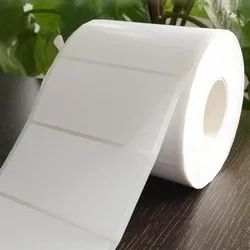 White Chromo Heat Resistant Labels Roll