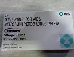 Janumet Tablet , Sitagliptin  50mg And Metformin 500mg