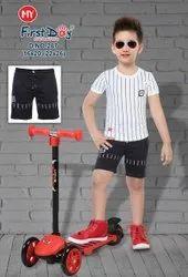 Cotton BLACK WHITE Boys Short Wear, Size: 22*26