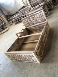 www.lavanyart.com Brown wooden beds manufacturing Bengaluru, Size: 72-36-48 Inch