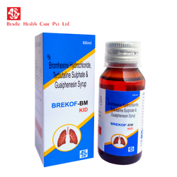 Bromhexine Hydrochloride, Terbutaline Sulphate And Guaiphenesin Syrup