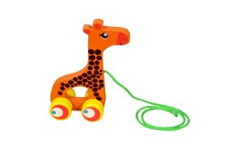 Wooden Pull Along Toy Giraffe, Child Age Group: 1 Year