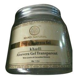 Transparent Khadi Natural Herbal Aloevera Gel, Packaging Size: 200 Gm