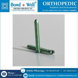 Orthopedic Locking Screws